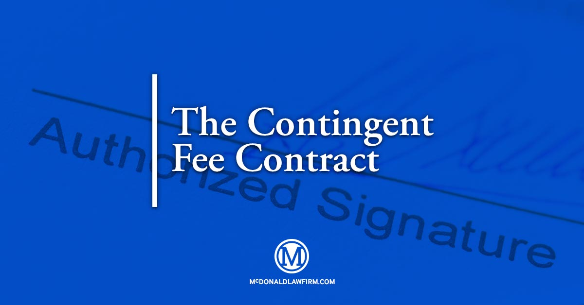Contingent Fee Contract Mcdonald Law Firm
